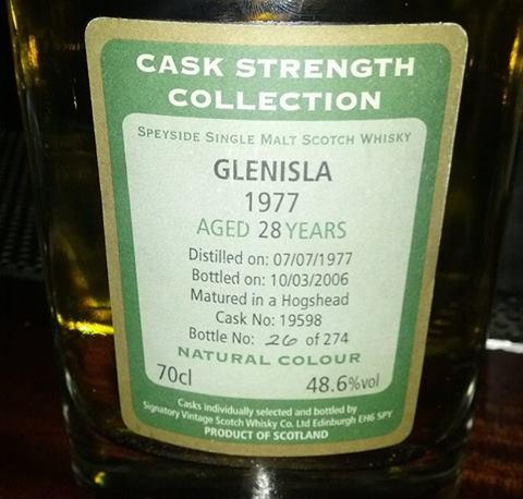 Glenisla 1977 28 YO Signatory