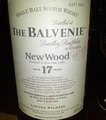 Balvenie 17 YO New Wood