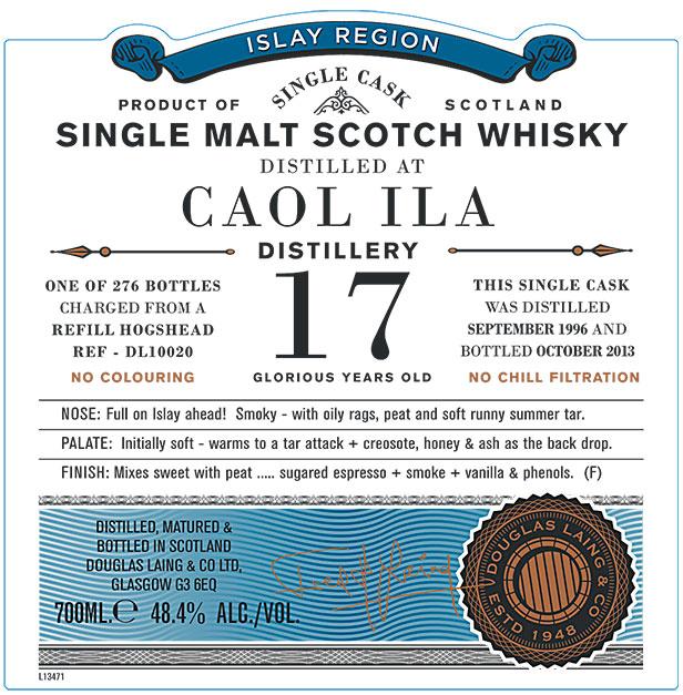 Caol Ila 1996 17 YO Old Particular