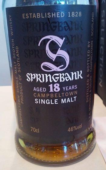 Springbank 18 YO