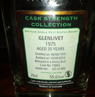Glenlivet 1975 35 YO Signatory