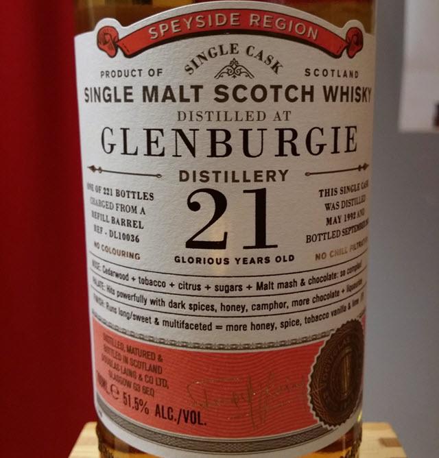 Glenburgie 1992 21 YO Old Particular
