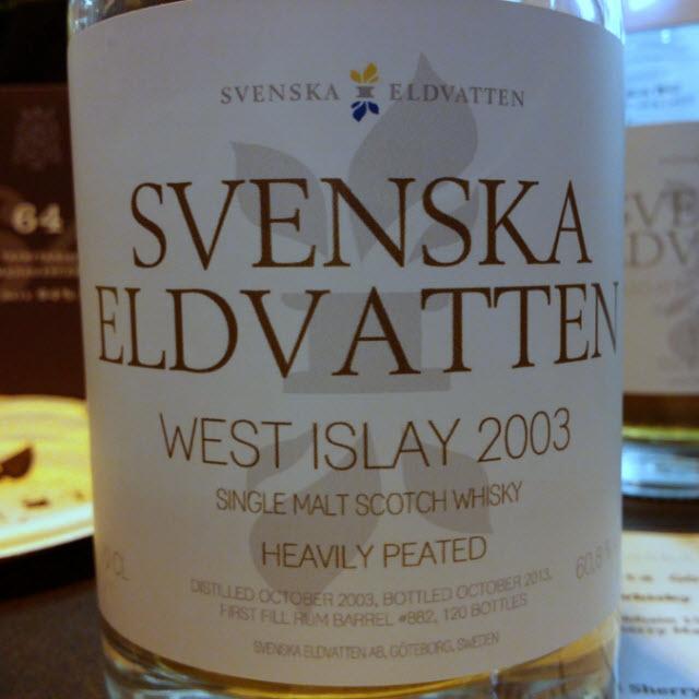 Svenska Eldvatten West Islay 2003 Heavily Peated
