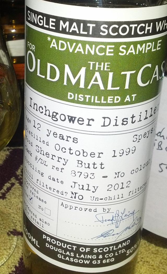 Inchgower 1999 12 YO Douglas Laing Advance Sample for OMC