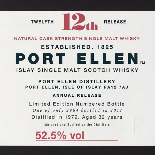 Port Ellen 1979 32 YO 12th release