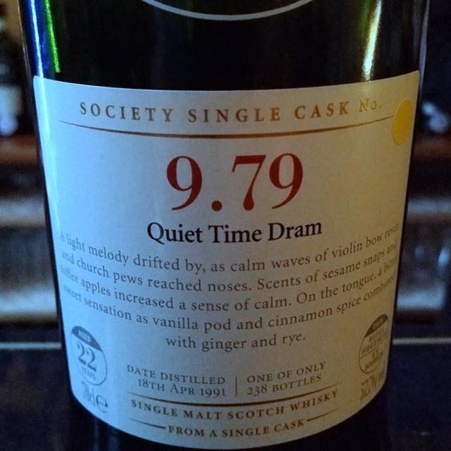 SMWS 9.79 Quiet Time Dram