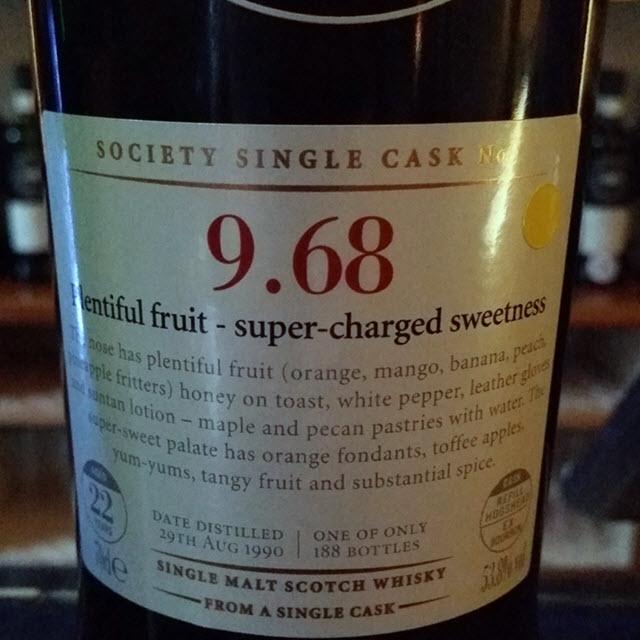 SMWS 9.68 Plentiful fruit - super-charged sweetness