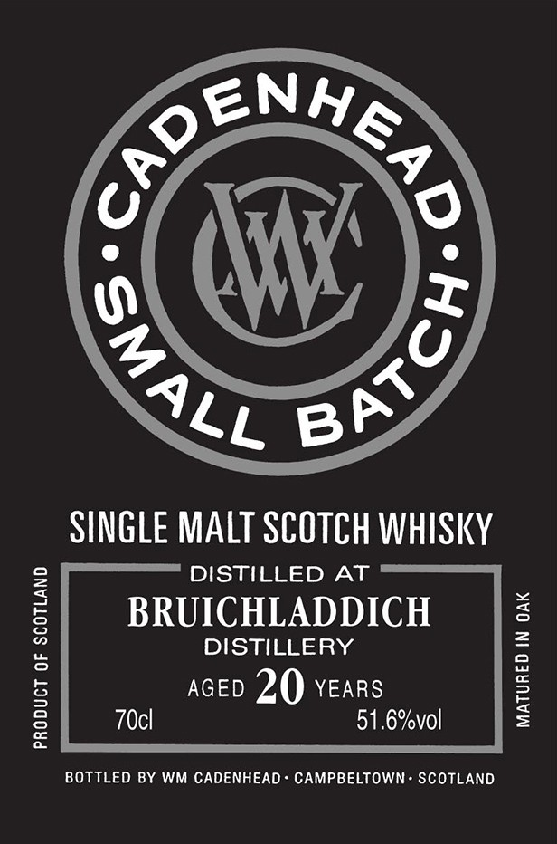 Bruichladdich 1993 20 YO Cadenhead Small Batch