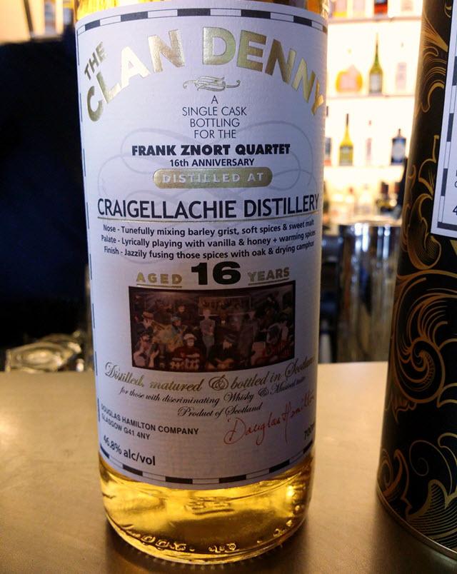Clan Denny Frank Znort Quartet 16 YO Craigellachie - bilde 1