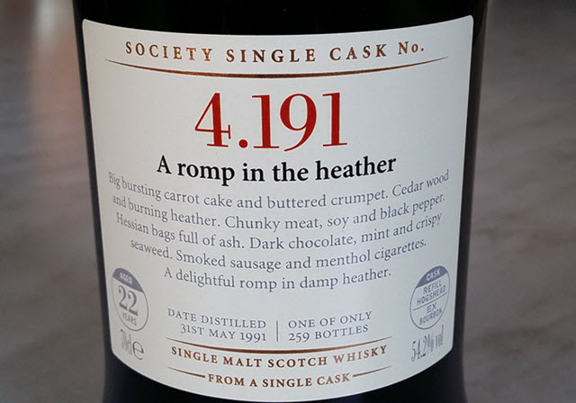 SMWS 4.191 A romp in the heather