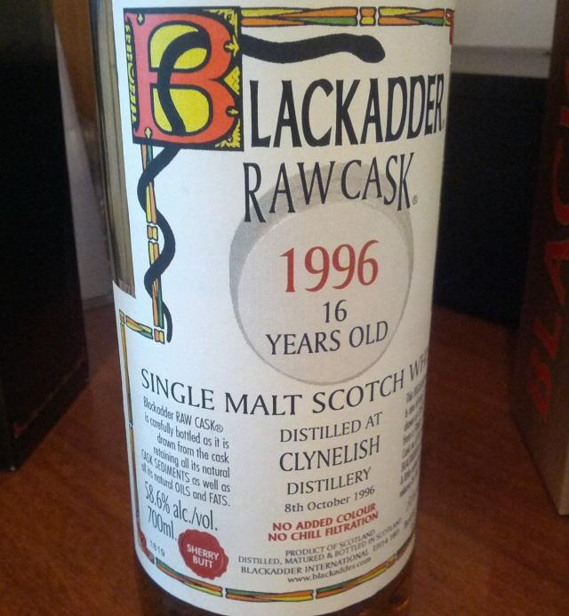 Clynelish 1996 16 YO Blackadder