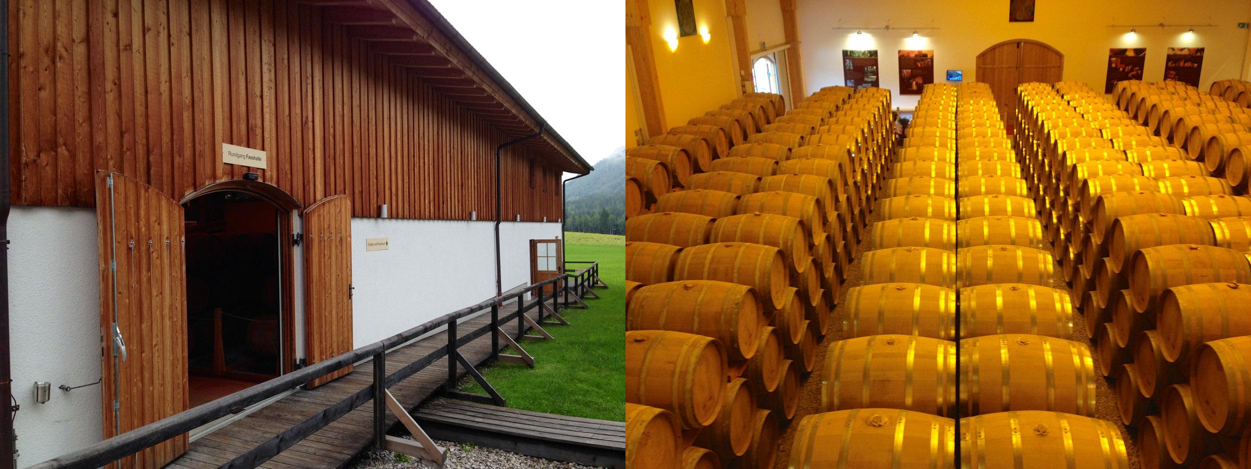 SLYRS - the Bavarian Distillery - warehouse