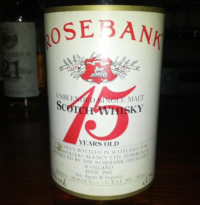 Rosebank 15 YO bottled 1975