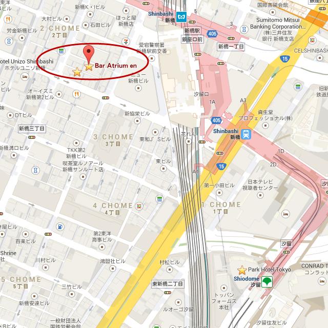 Bar Atrium en, Japan - map
