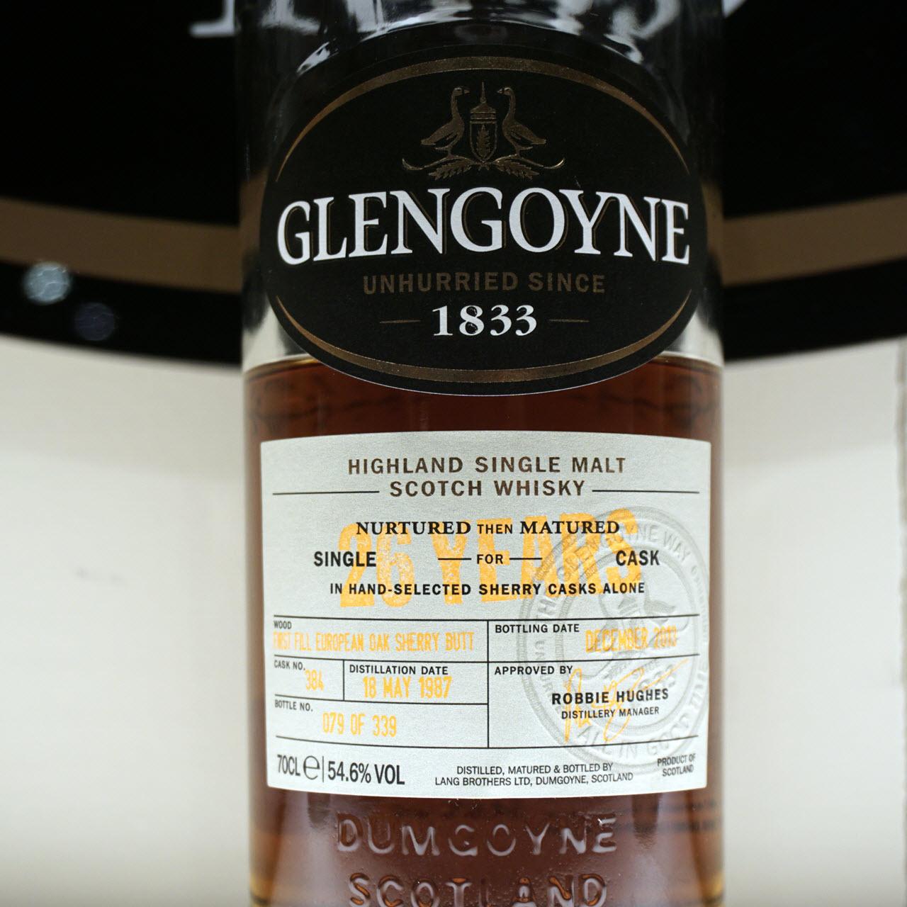 Glengoyne 1987 26 YO Cask #384