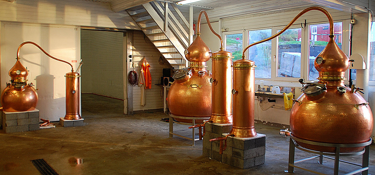 Myken Distillery - the stills