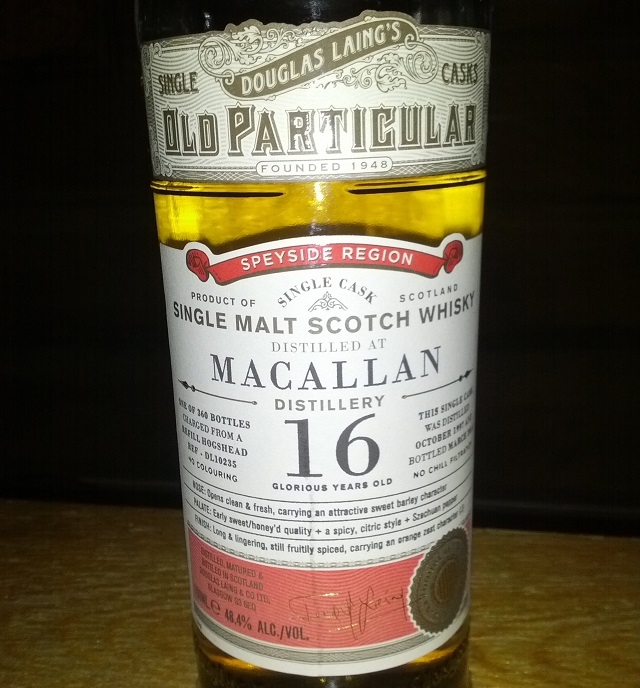 Macallan 1997 16 YO Old Particular