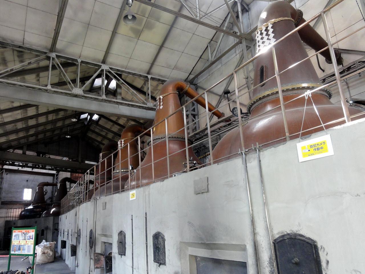 Yoichi Distillery - the stills