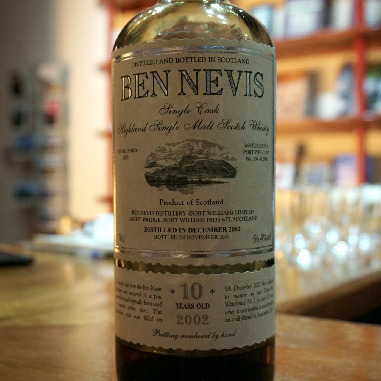 Ben Nevis 2002 10 YO Cask #334 White Port Matured