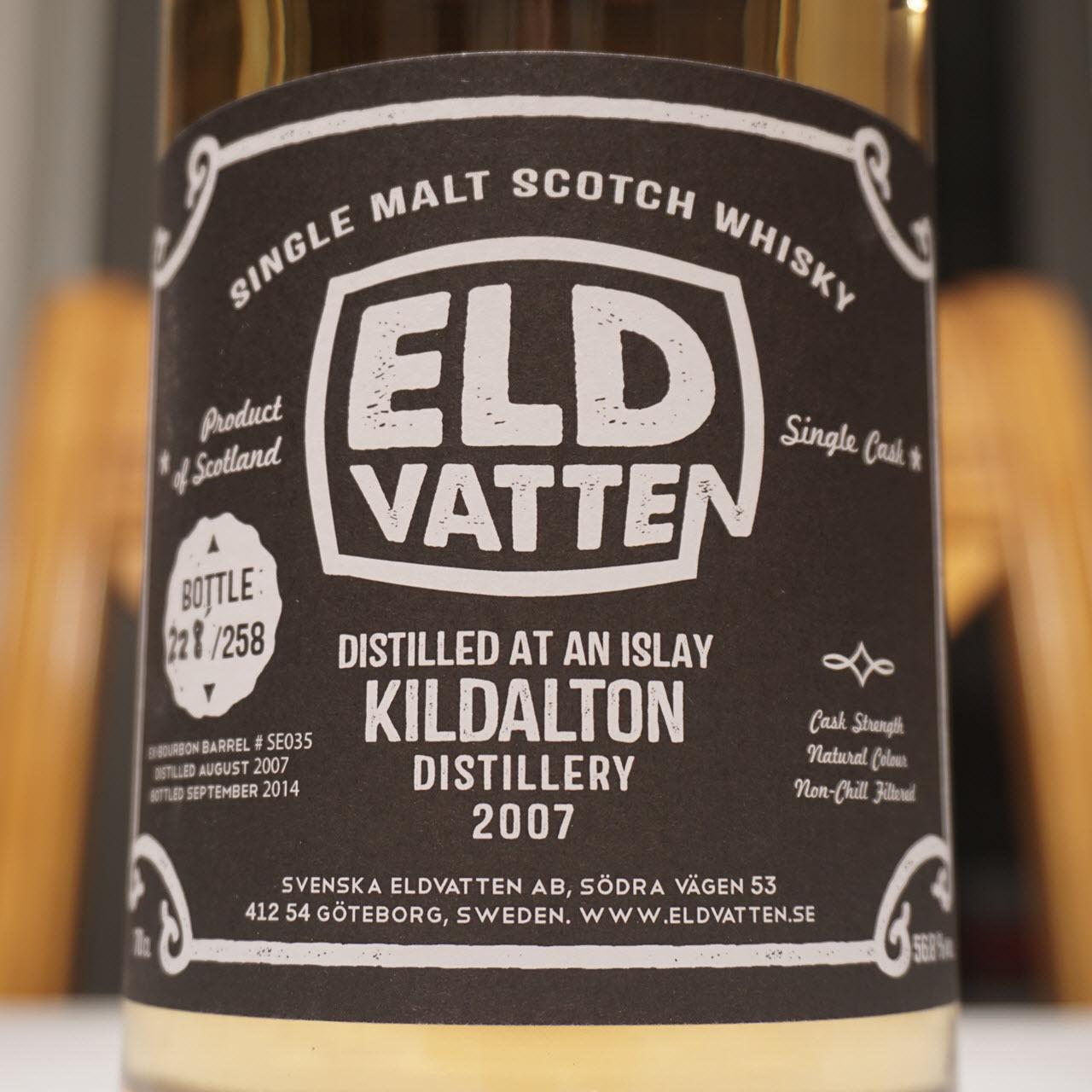 Kildalton 2007 7 YO Svenska Eldvatten