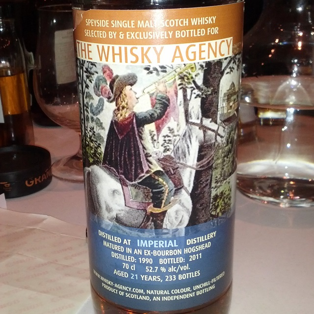 Imperial 1990 21 YO The Whisky Agency