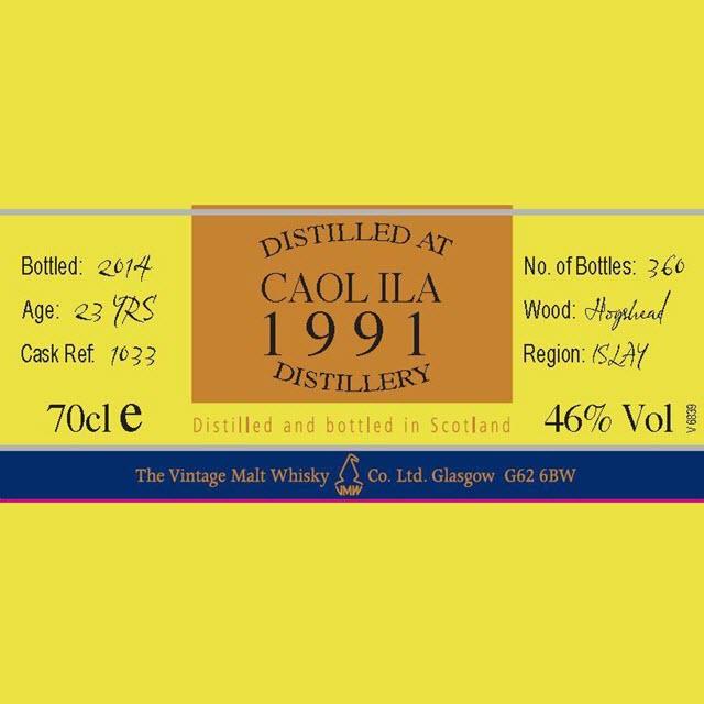 Caol Ila 1991 23 YO Cask #1033 Cooper's Choice