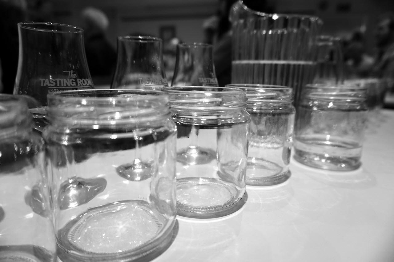 Bergen International Whisky & Beer Festival 2015 - glasses