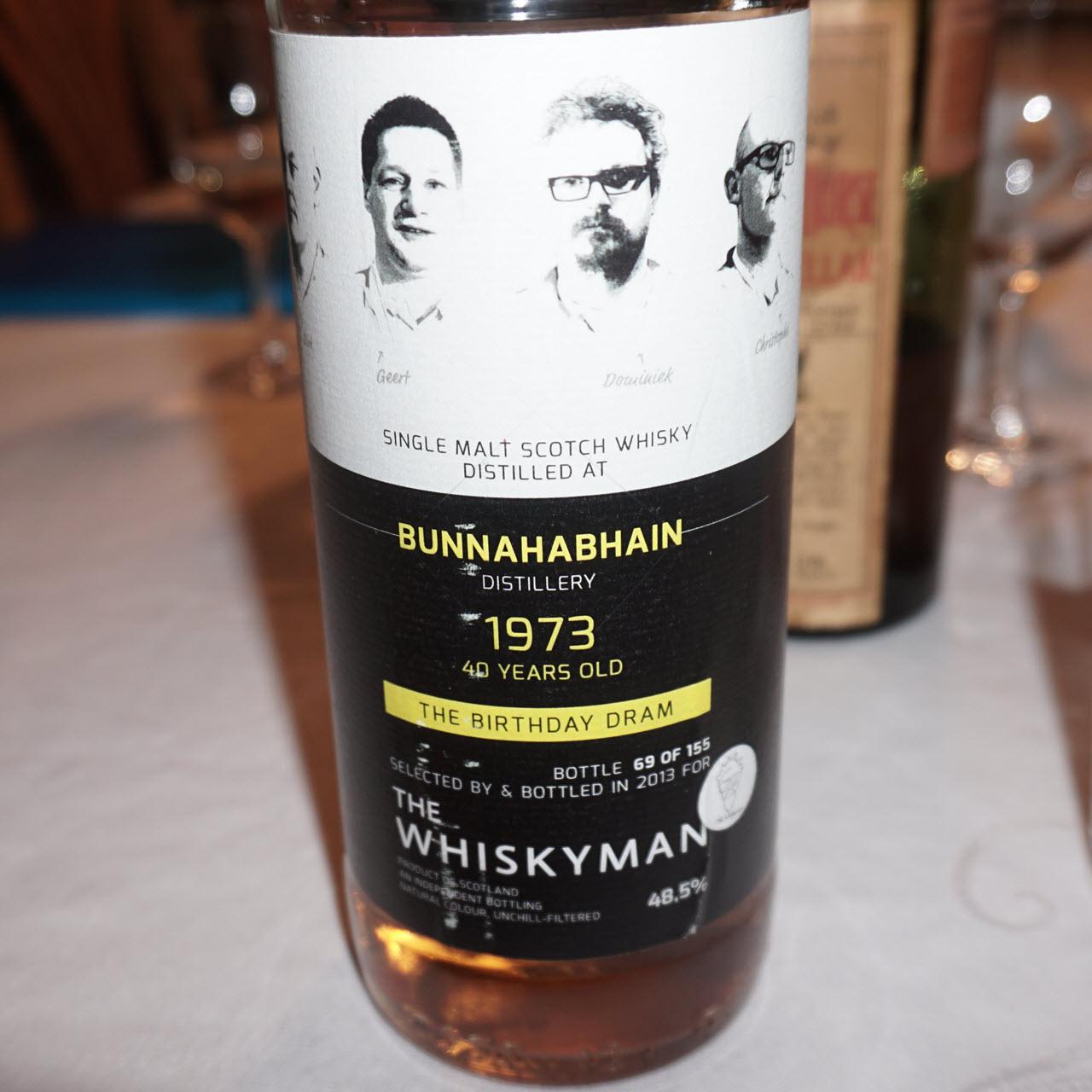 Bunnahabhain 1973 40 YO The Birthday Dram