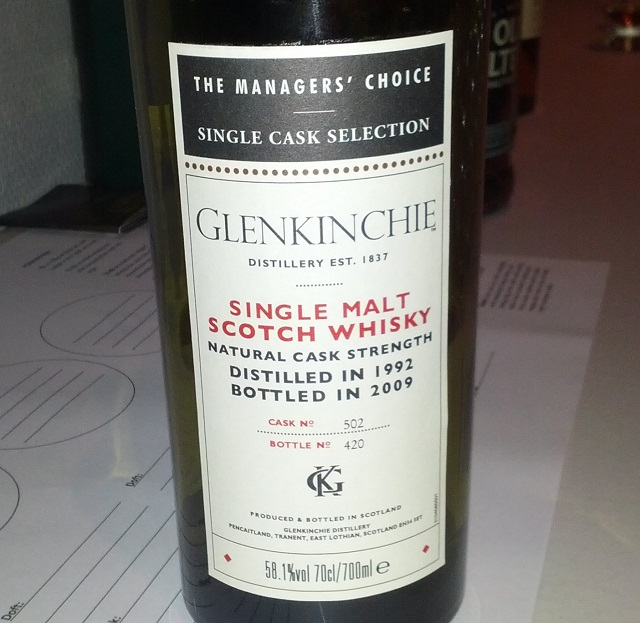 Glenkinchie 1992 17 YO The Manager's Choice
