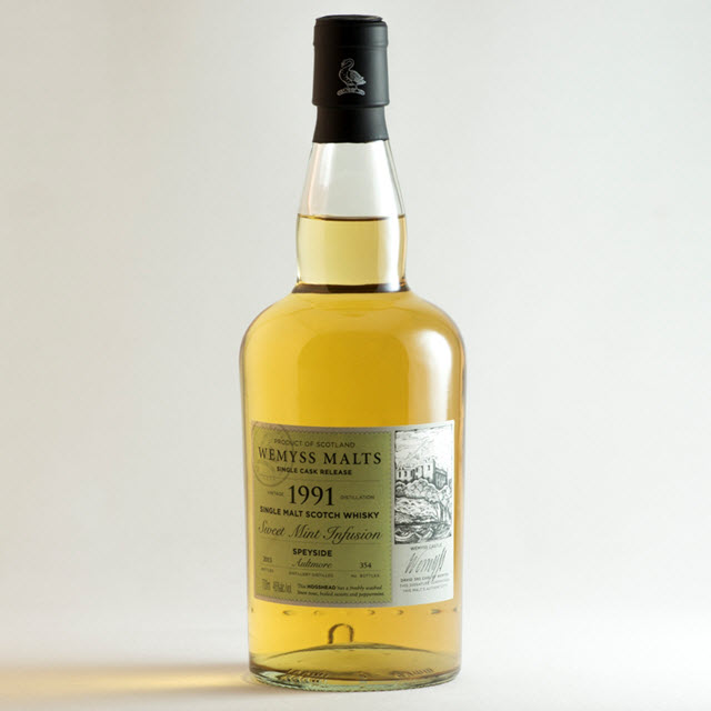 """Aultmore 1991 """"Sweet Mint Infusion"""" (Wemyss Malts)"""
