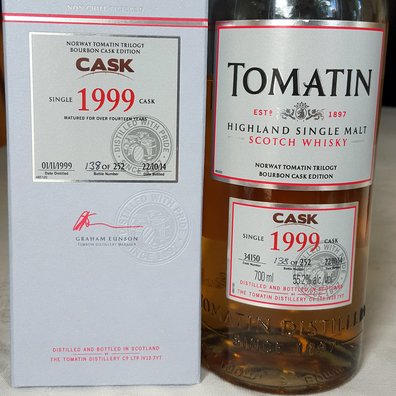 Tomatin 1999 Norway Tomatin Trilogy - Bourbon Cask Edition