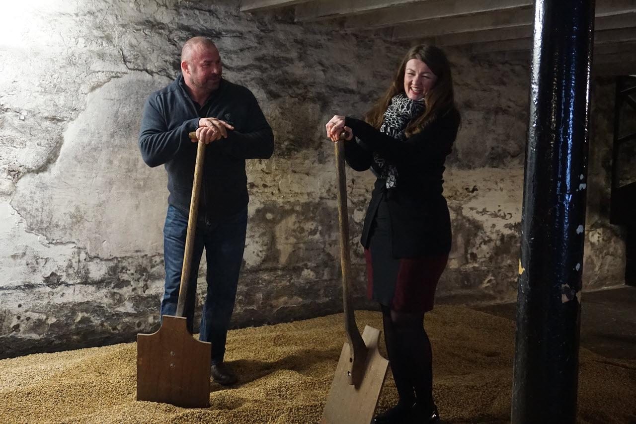 Highland Park Distillery - floor malting