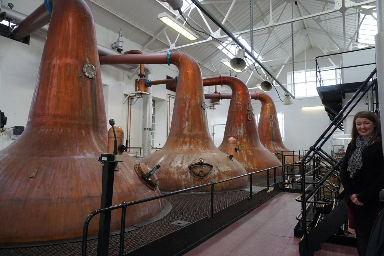 Highland Park Distillery - the stills