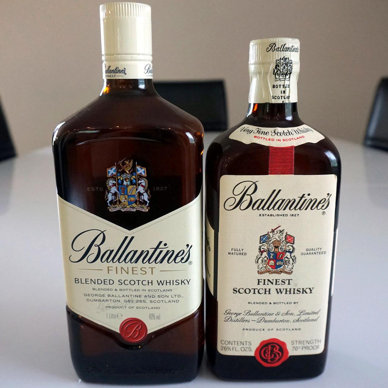 Ballantine's Finest - early 1970s vs 2015