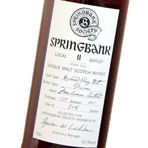 Springbank 1999 11 YO Local Barley Society Bottling