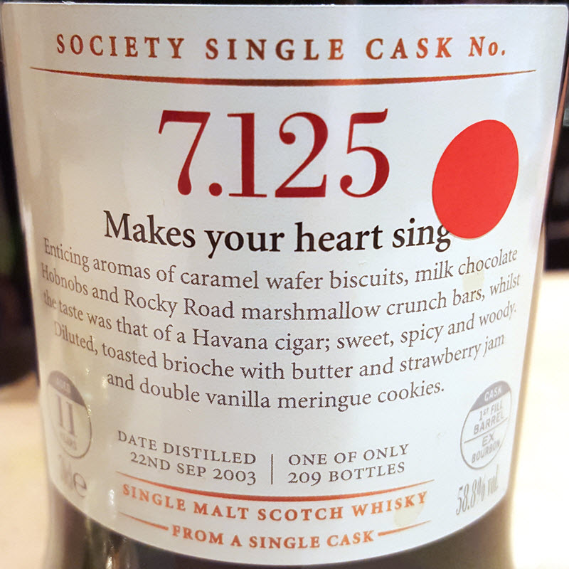 SMWS 7.124 Makes your heart sing