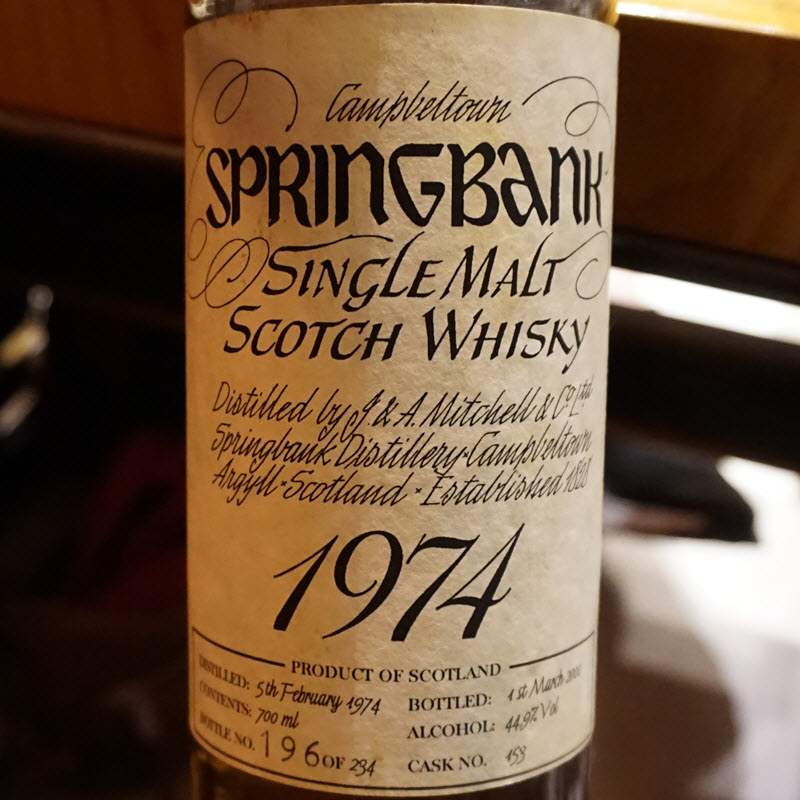 Springbank Extravaganza - the 1974