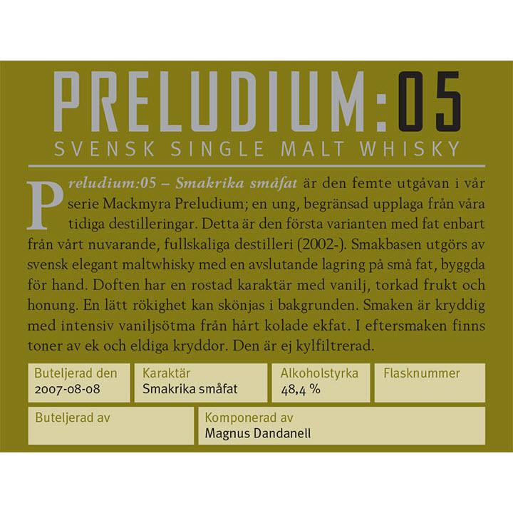 Mackmyra Preludium:05 - Smakrika Småfat