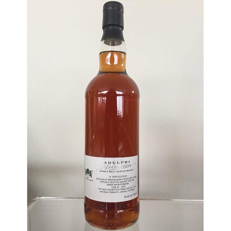 Bruichladdich 2003 12 YO - Norsk whiskyforbund Cask 2