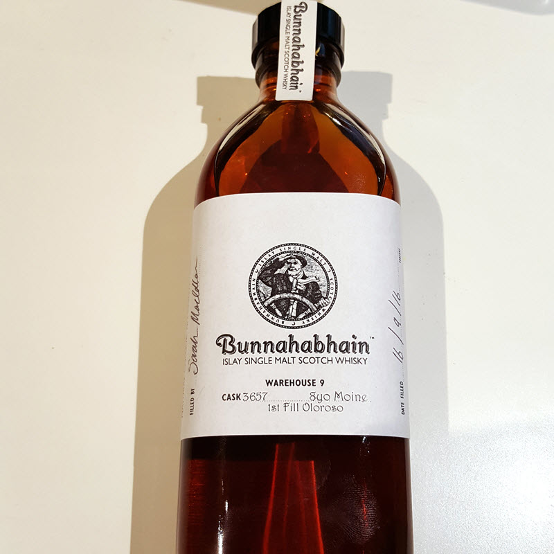 Bunnahabhain Moine 8 YO Cask #3657 Hand Filled Exclusive