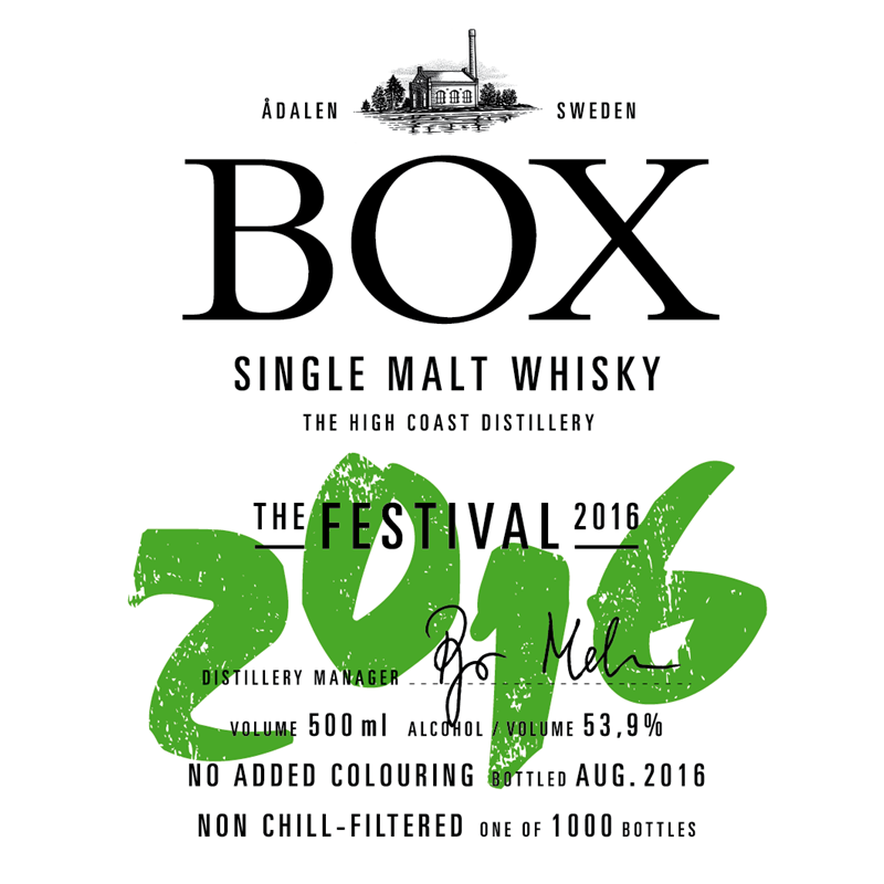 Box Whisky The Festival 2016