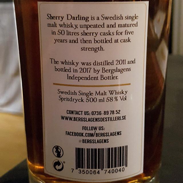Grythyttan 2011 5 YO Sherry Darling (Bergslagens Independent Bottler)