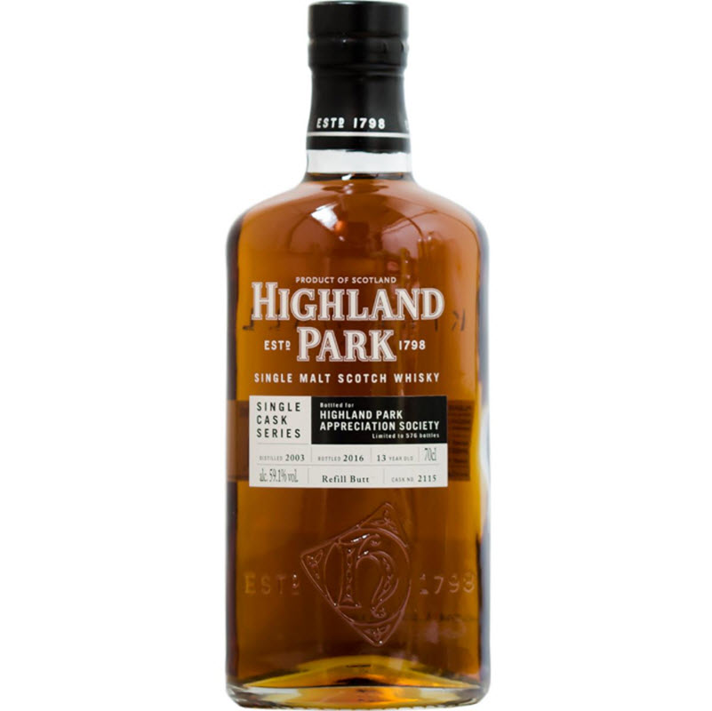 Highland Park 2003 13 YO Cask #2115 for HP Appreciation Society