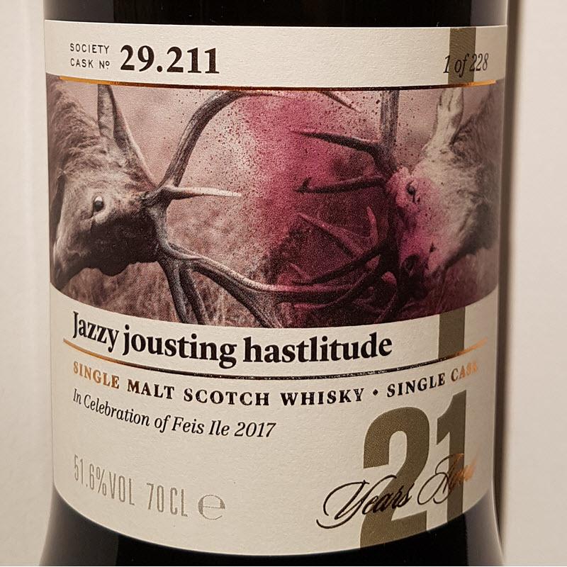 SMWS 29.211 Jazzy jousting hastlitude