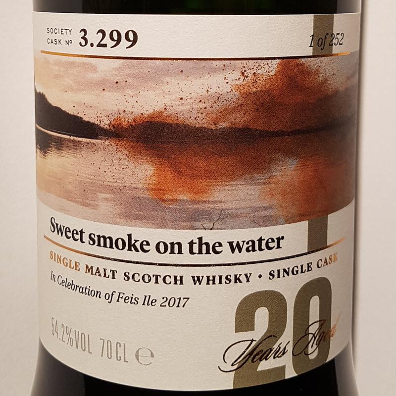 SMWS 3.299 Sweet smoke on the water