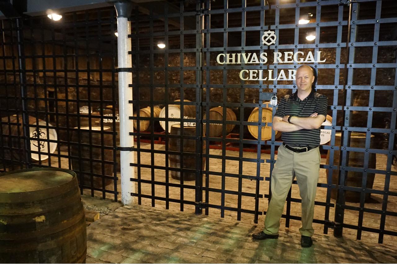 Visiting Strathisla - Chivas Regal cellar