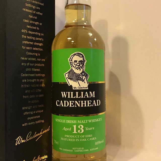 William Cadenhead 13 YO Irish Malt - Bourbon Cask