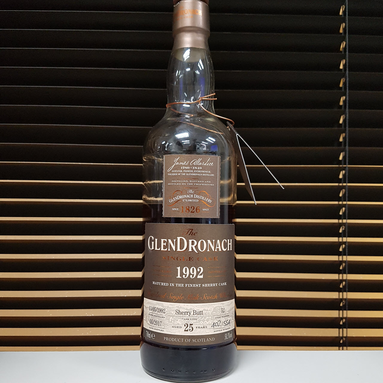 Glendronach 1992 25 YO Single Cask