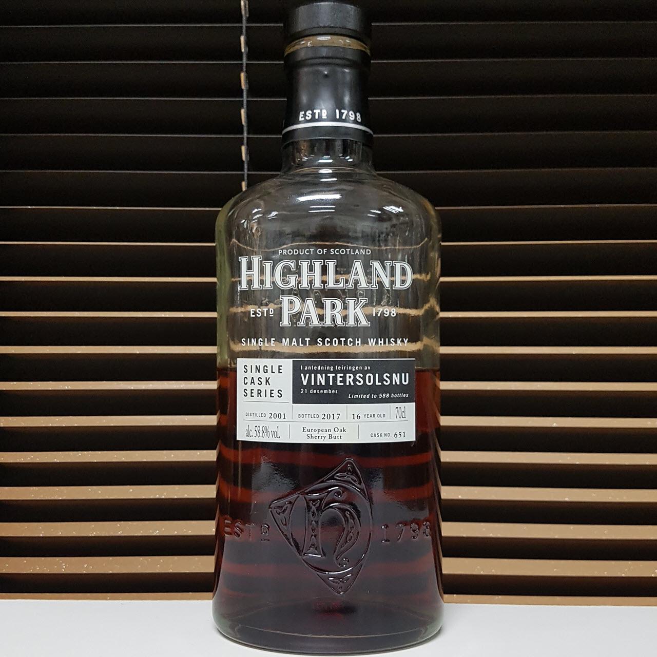 Highland Park Single Cask Vintersolsnu