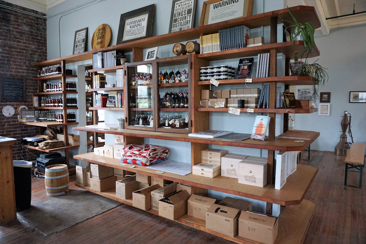 Kings County Distillery - the distillery shop